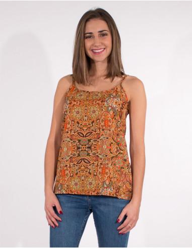 Polyester straps blouse sari