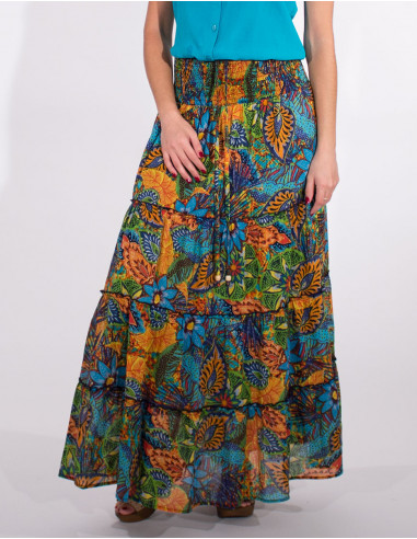 Long guava printed with lining cotton...