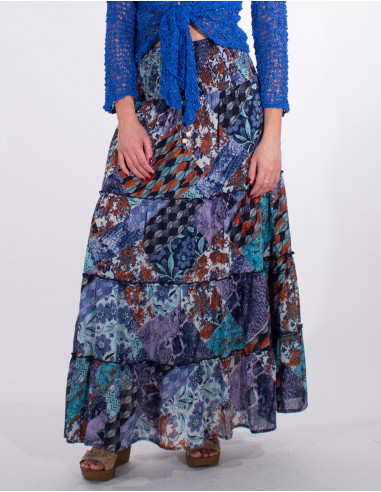 Long hania printed with lining cotton...