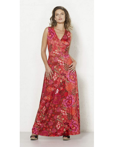 1 Robe Longue Maille 95% Polyester 5% Elas