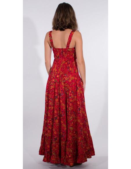 5 Robe Longue Polyester Bretelles Larges S