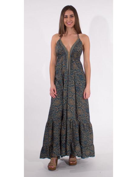3 Robe Longue Polyester Bretelles Sari