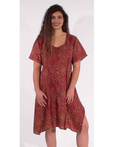1 Robe Polyester Manches Courtes Sari