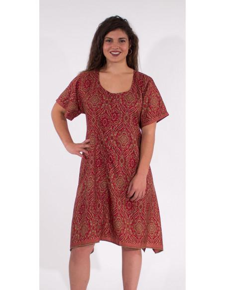 4 Robe Polyester Manches Courtes Sari