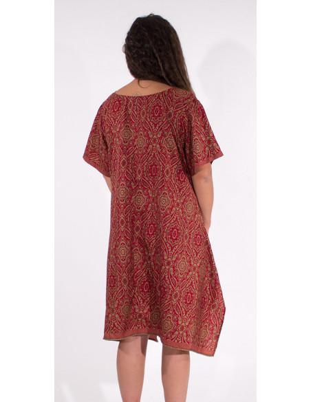 5 Robe Polyester Manches Courtes Sari