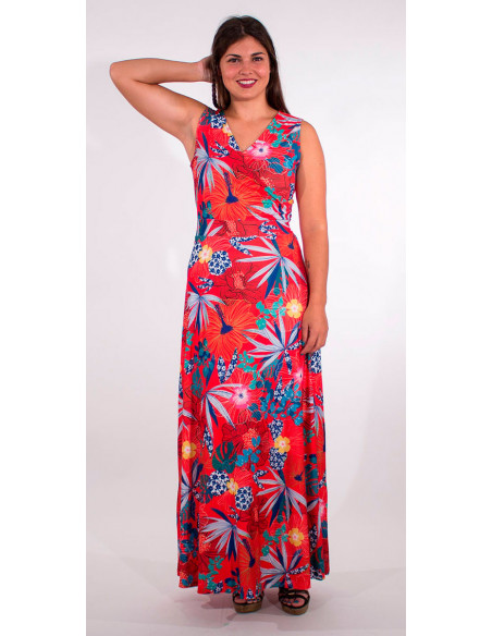 4 Robe Longue Maille 95% Polyester 5% Elas