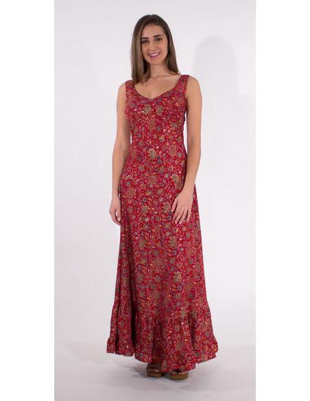 4 Robe Longue Polyester Bretelles India Do