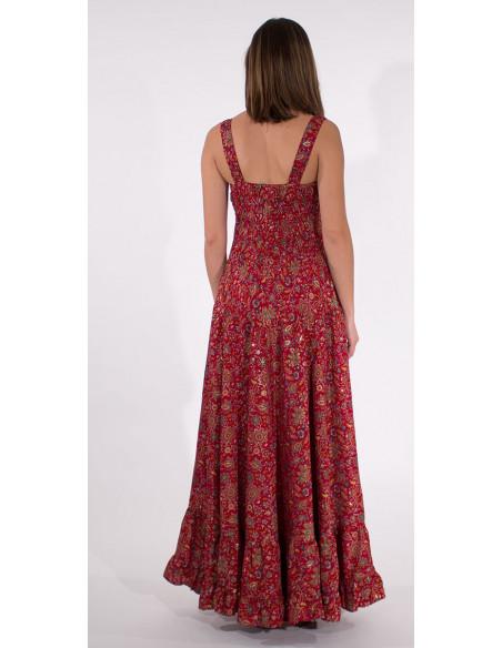 5 Robe Longue Polyester Bretelles India Do