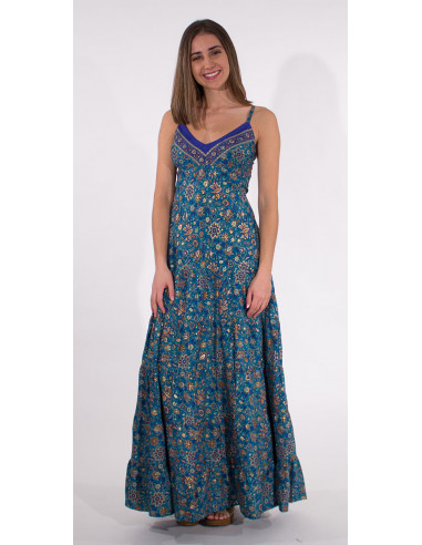 1 Robe Longue Polyester India Dore Bretell