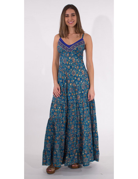 2 Robe Longue Polyester India Dore Bretell
